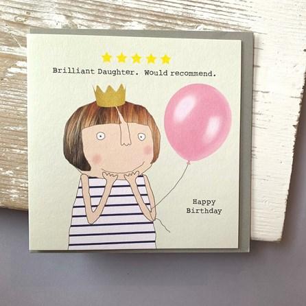 'Brilliant Daughter…' Greetings Card
