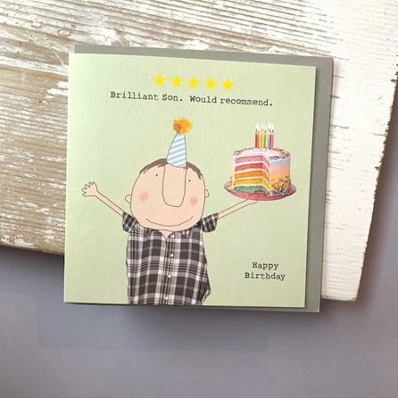 'Brilliant Son...' Greetings Card