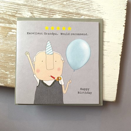'Excellent Grandpa...' Greetings Card