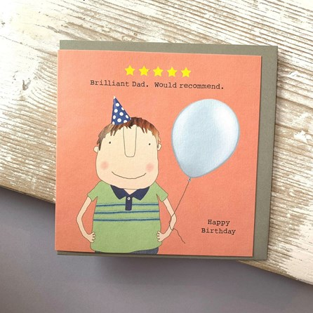 'Brilliant Dad…' Greetings Card