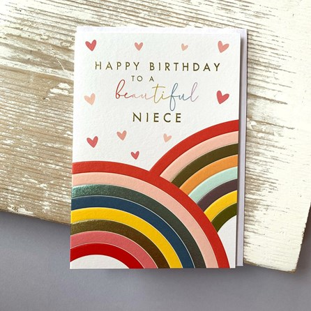 'Happy Birthday To A Beautiful Niece' Greetings Card