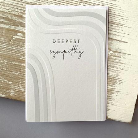 'Deepest Sympathy' Greetings Card