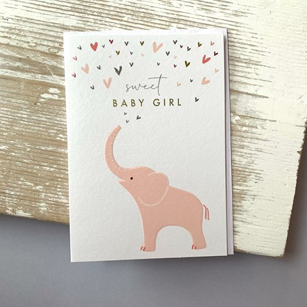 'Sweet Baby Girl' Greetings Card
