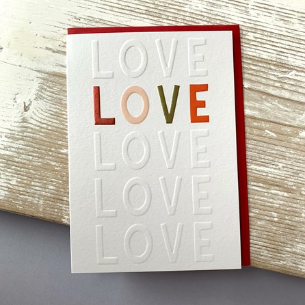 'Love' Greetings Card