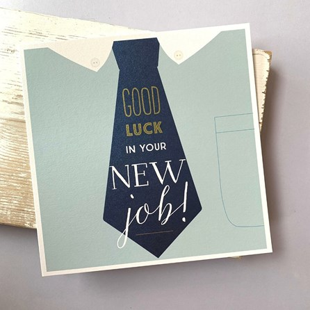 'Good Luck In Your New Job!' Large Greetings Card