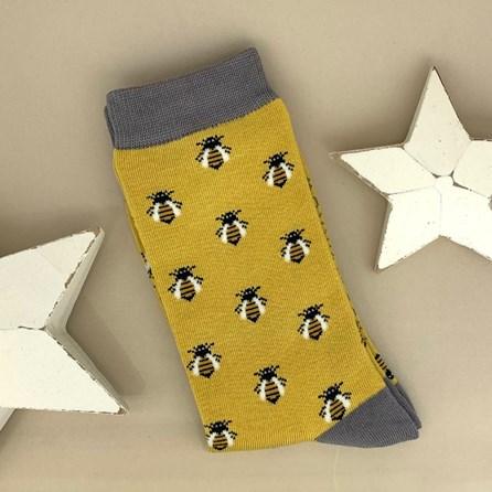 Bamboo Honey Bee Socks in Yellow