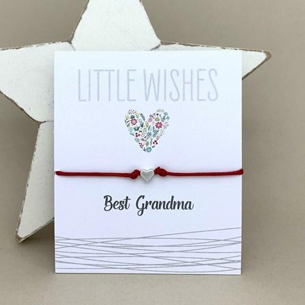 'Best Grandma' Wish Bracelet