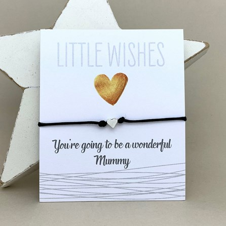 'You're Going To Be A Wonderful Mummy' Wish Bracelet