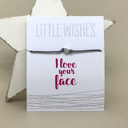 'I Love Your Face' Wish Bracelet