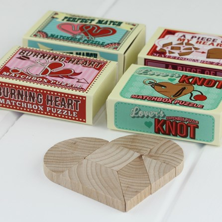 Love Matchbox Wedding Favour Puzzles