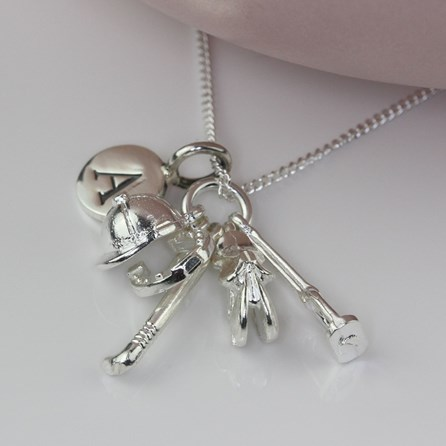 Personalised Equestrian Silver Charm Necklace