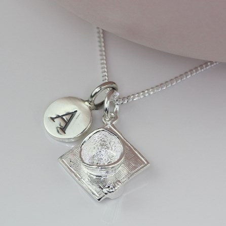 Personalised Graduation Silver Charm Necklace