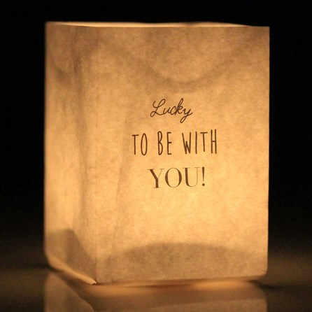 'Lucky To Be With You' Tealight Holder