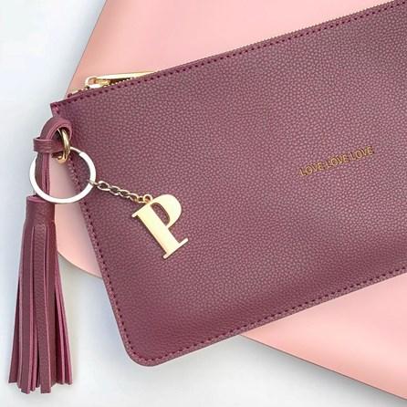 Katie Loxton Personalised 'Love Love Love' Mulberry Tassel Bag