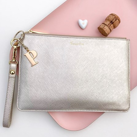 Katie Loxton Personalised 'Prosecco Time' Secret Saying Clutch Bag