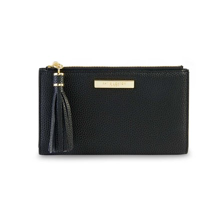 Katie Loxton Personalised Sophia Tassel Fold Out Purse In Black