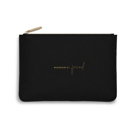 Katie Loxton Personalised Perfect Pouch 'Wonderful Friend' In Black