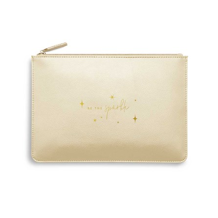 Katie Loxton Personalised Perfect Pouch 'Be The Sparkle' In Gold