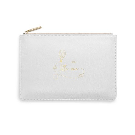 Katie Loxton Personalised Perfect Pouch 'Little One' In Grey