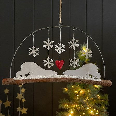 Love Struck Polar Bears Hanging Decoration