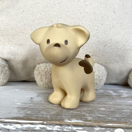 Natural Rubber Rattle & Bath Toy Puppy