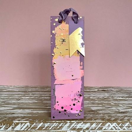Painterly Purples Bottle Gift Bag