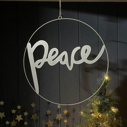 'Peace' Hoop Hanging Decoration