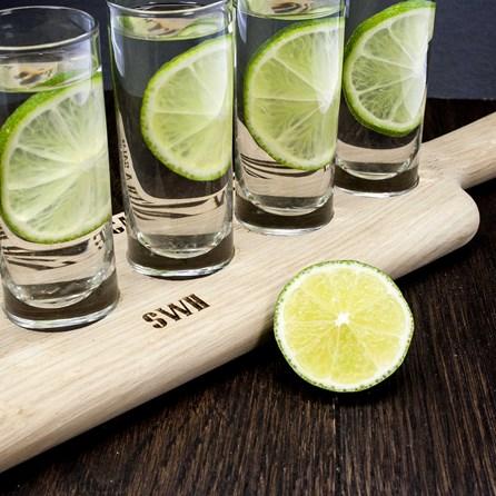 Personalised LSA Shot Glass Paddle Set