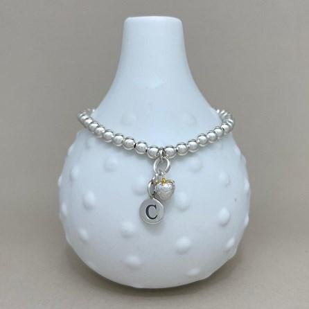 Personalised Strawberry Charm Bead Bracelet