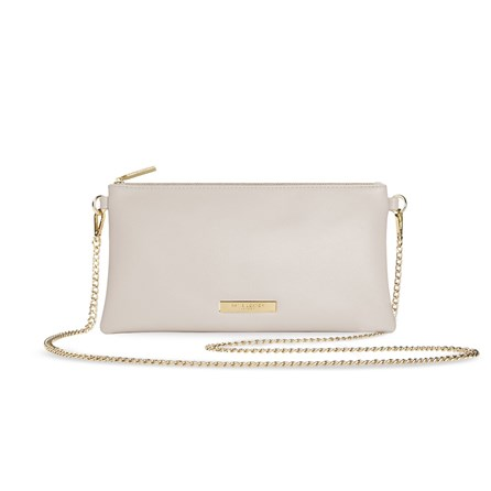 Katie Loxton Personalised Freya Crossbody Bag In Warm Grey