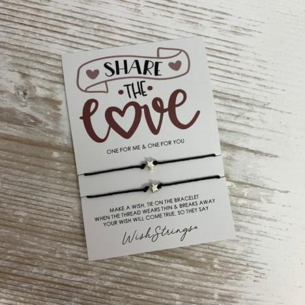 'Share The Love' Duo Star Wish Bracelets