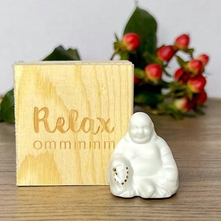 Porcelain Lucky Buddha in Box