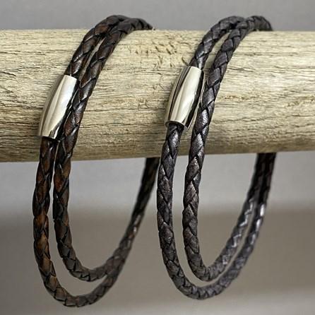 Fine Leather Double Wrap Bracelet