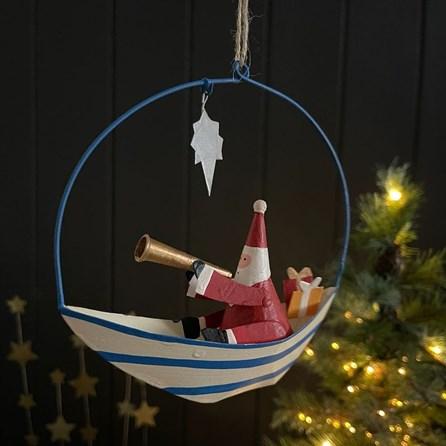 Santa with Telescope Hanging Decoration