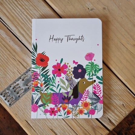 Sausage Dog 'Happy Thoughts' Notebook