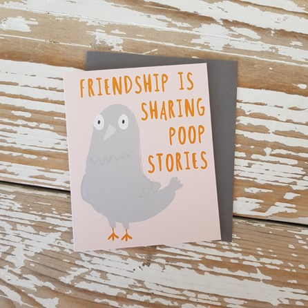 'Friendship Is Sharing...' Greetings Card