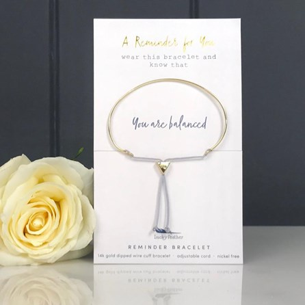 Gold 'You Are Balanced' Reminder Bracelet