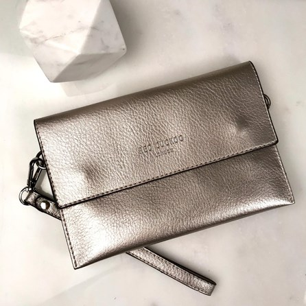 Clutch Bag In Silver
