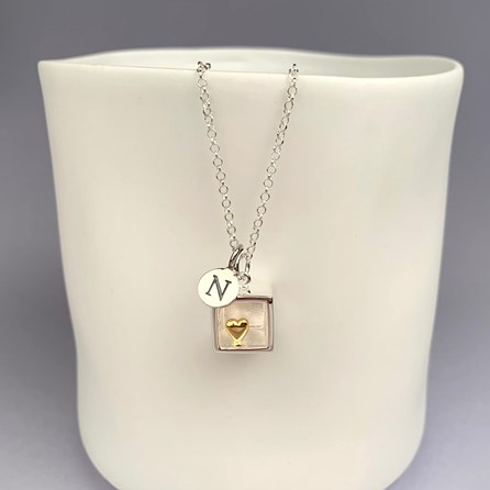 Personalised Heart Of Gold Pendant