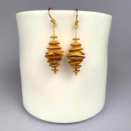 Topsy Turvy Gold Earrings