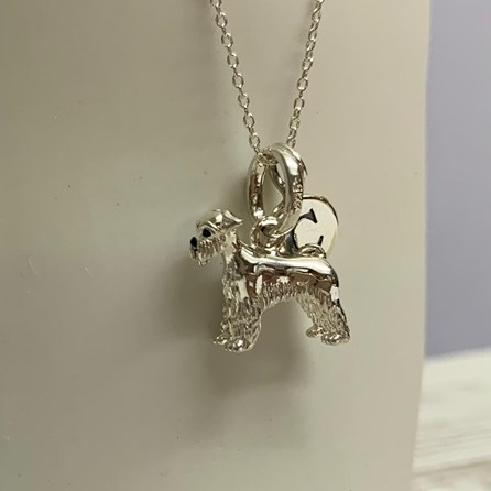 Personalised Schnauzer Dog Sterling Silver Necklace