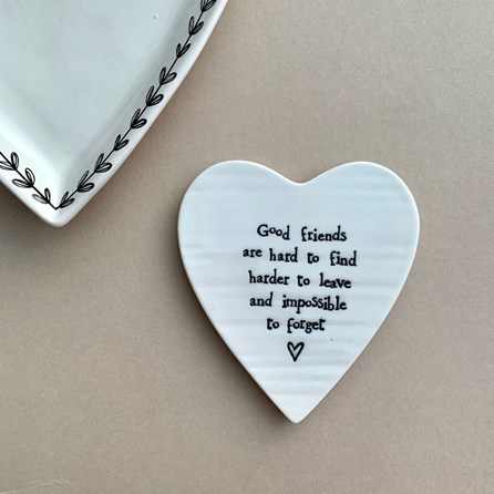 'Good Friends...' Porcelain Coaster