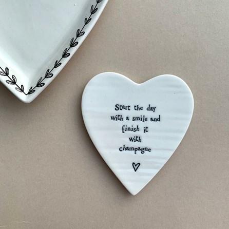 'Start The Day...' Porcelain Coaster