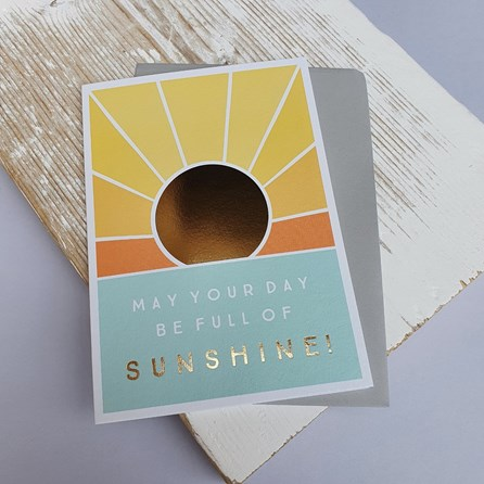 'May Your Day Be Full Of Sunshine!' Greetings Card
