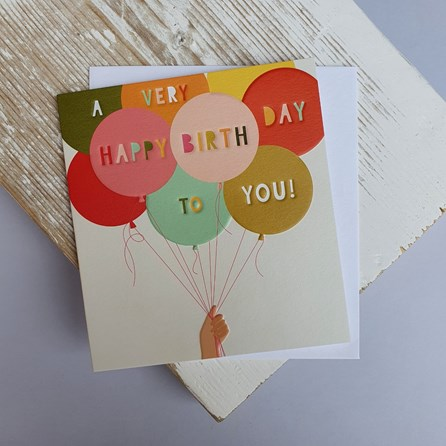 'A Very Happy Birthday…' Balloons Greetings Card