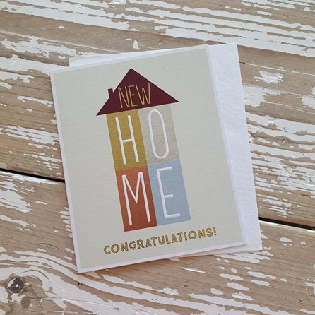 'New Home...' Greetings Card