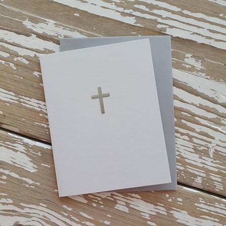 Silver Cross Greetings Card