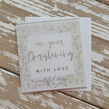 'On Your Christening...' Greetings Card