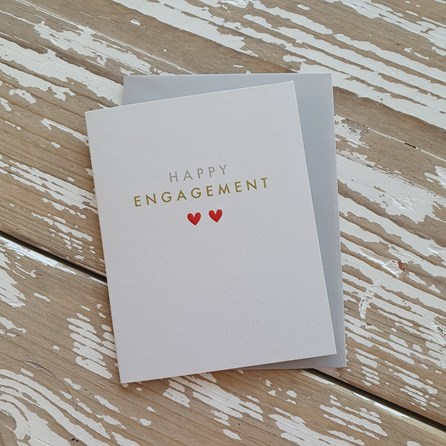 'Happy Engagement' Greetings Card