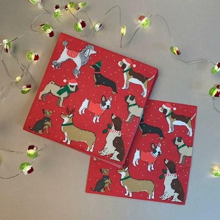 Christmas Dog Napkin 20pk